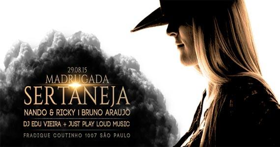 Fields Club promove Festa Madrugada Sertaneja com Bruno Araújo e convidados Eventos BaresSP 570x300 imagem