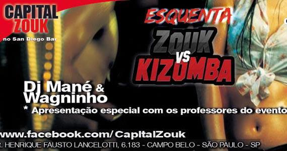 Esquenta Zouk vs Kizomba com DJ Mané e Wagninho no San Diego Bar Eventos BaresSP 570x300 imagem