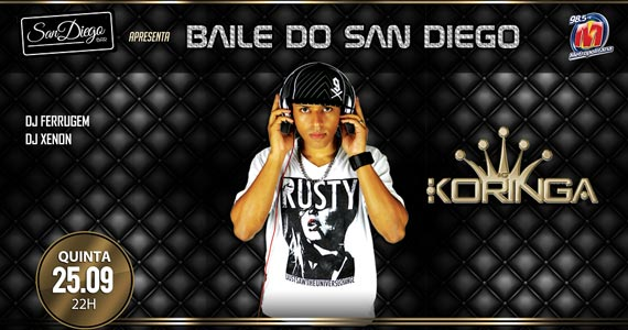 Baile do San Diego com DJ Koringa e convidados no San Diego Bar Eventos BaresSP 570x300 imagem