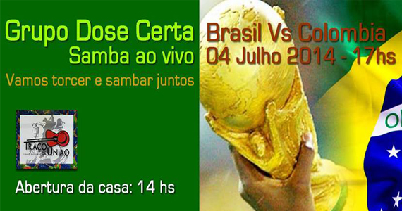 Traço de União transmite o jogo do Brasil ao vivo pelas quartas de final da Copa do Mundo Eventos BaresSP 570x300 imagem