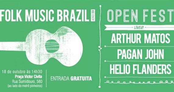 Terceira edição do Folk Music Brazil Open Fest acontece neste sábado na Praça Victor Civita Eventos BaresSP 570x300 imagem