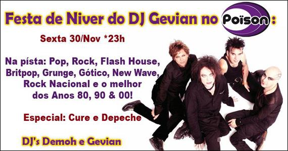 Poïson Bar e Balada recebe a Festa de Aniversário do Dj Gevian nesta sexta-feira Eventos BaresSP 570x300 imagem