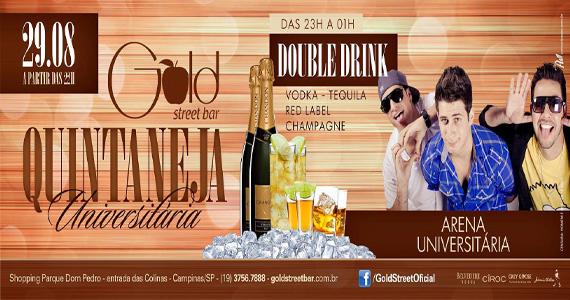 Gold Street Bar recebe banda Arena Universitária para agitar a Quintaneja Eventos BaresSP 570x300 imagem