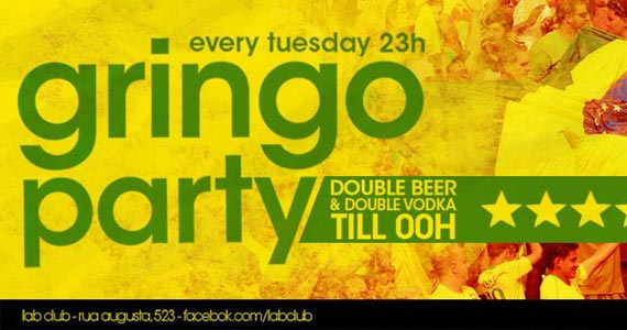 Gringo Party acontece nesta terça-feira na Lab Club com Line up de Adan Stokinger Eventos BaresSP 570x300 imagem