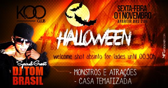 Noite do Halloween agita a noite de sexta-feira com o DJ Tom Brasil na Koo Club Eventos BaresSP 570x300 imagem