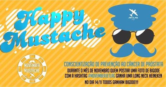Happy Mustache em prol da prevenção ao câncer de próstata no Jet Lag Pub Eventos BaresSP 570x300 imagem