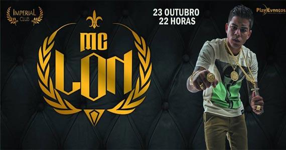 MC Lon agita a noite do Imperial Club com muito funk na sexta feira Eventos BaresSP 570x300 imagem