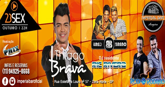 Imperial Bar recebe show de Thiago Brava e convidados agitando a sexta Eventos BaresSP 570x300 imagem