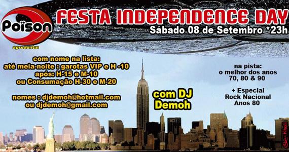 Festa Independence Day anima o sábado do Poïson Bar e Balada Eventos BaresSP 570x300 imagem