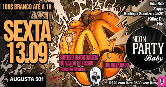 Neon Party, Baby! tem especial Sexta-Feira 13 no Inferno Club Eventos BaresSP 570x300 imagem