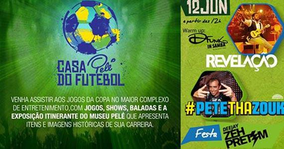 Para o jogo Brasil X Croácia shows do grupo Revelação e Pete Tha Zouk no Estádio do Morumbi Eventos BaresSP 570x300 imagem