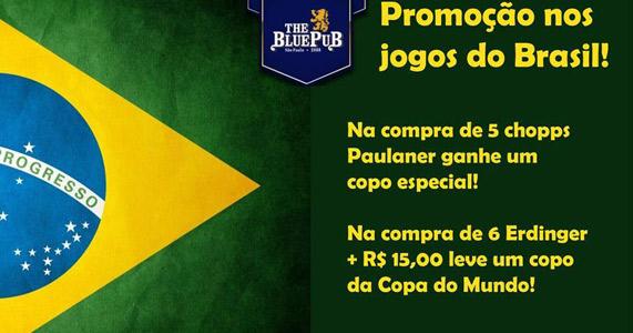 The Blue Pub transmitirá ao jogo do Brasil com promoções Eventos BaresSP 570x300 imagem