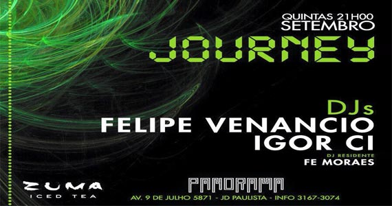 Panorama apresenta Festa Journey com Felipe Venancio e convidados Eventos BaresSP 570x300 imagem