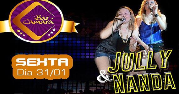 Apresentação da dupla Jully & Nanda no palco do Bar Camará Eventos BaresSP 570x300 imagem