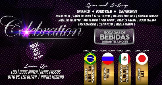Acontece na sexta-feira a Festa Celebration Volta ao Mundo na Koo Club Eventos BaresSP 570x300 imagem