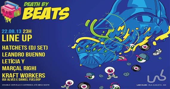 Festa Death By Beats anima a noite desta quinta-feira no Lab Club Eventos BaresSP 570x300 imagem