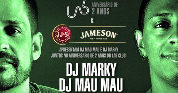 Lab Club comemora aniversário de 2 anos com DJs Marky e Mau Mau  Eventos BaresSP 570x300 imagem
