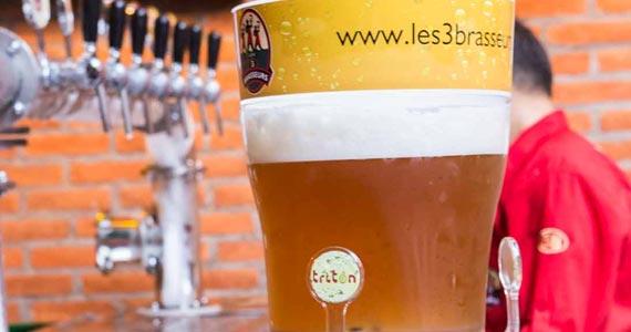 Les 3 Brasseurs comemora o Dia Internacional da Cerveja com chopp grátis Eventos BaresSP 570x300 imagem