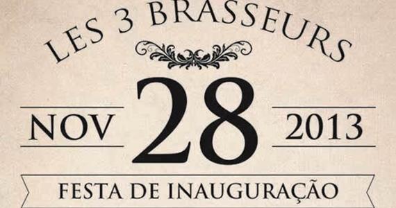 Les 3 Brasseurs inaugura primeira unidade da choperia e restaurante no bairro do Itaim nesta quinta-feira Eventos BaresSP 570x300 imagem