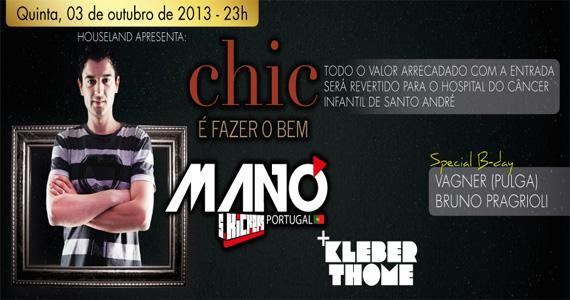 Festa Chic é Fazer o Bem com atração internacional DJ Manó agita a quinta-feira na Loop Music Eventos BaresSP 570x300 imagem