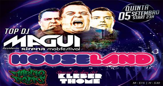 Festa Houseland com DJ Magui agita a noite de quinta da Loop Music Eventos BaresSP 570x300 imagem