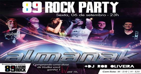 89 Rock Party traz Banda Almanak para agitar o Dia do Sexo na Loop Music Eventos BaresSP 570x300 imagem