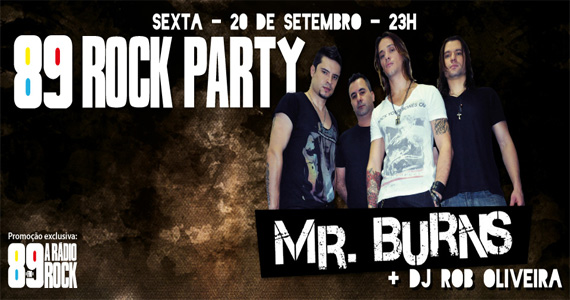 89 Rock Party agita a sexta-feira com a banda Mr. Burns na Loop Music Eventos BaresSP 570x300 imagem