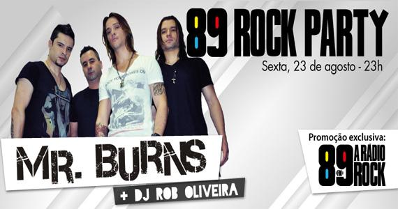 Festa 89 Rock Party com grupo Mr. Burns agita a sexta-feira na Loop Music Eventos BaresSP 570x300 imagem