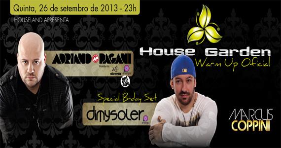Warm up oficial da House Garden com DJs convidados agitam a quinta da Loop Music Eventos BaresSP 570x300 imagem