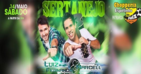 Sábado Sertanejo com Luiz Fernando e Marcell acontece no Bar Espetinho do Juiz Eventos BaresSP 570x300 imagem