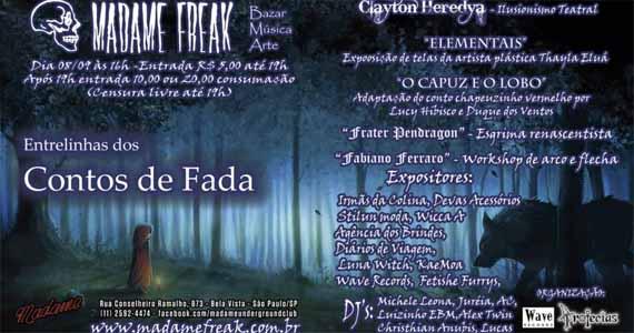 Festa Madame Freak agita o domingo com especial Conto de Fadas no Madame Eventos BaresSP 570x300 imagem
