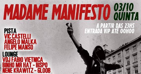 Madame Manifesto agita a noite de quinta-feira no Madame Eventos BaresSP 570x300 imagem