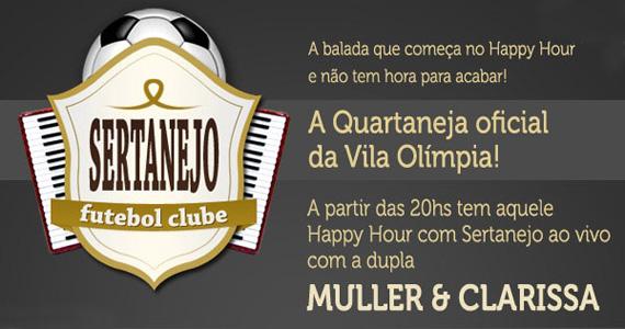 Quarta-feira tem futebol e sertanejo com Muller & Clarissa no Maevva Bar Eventos BaresSP 570x300 imagem