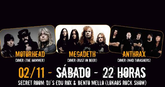 Covers das bandas Motorhead, Megadeth e Anthrax no Manifesto - Rota do Rock Eventos BaresSP 570x300 imagem