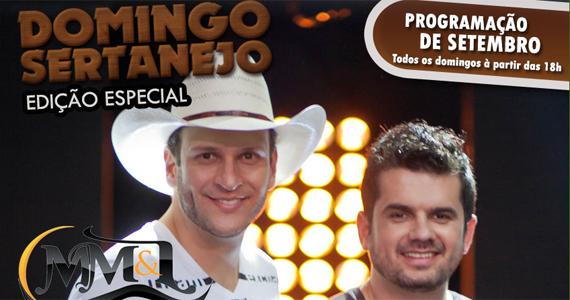Domingo Sertanejo no Quintal do Espeto com Matheus Minas e Leandro Eventos BaresSP 570x300 imagem