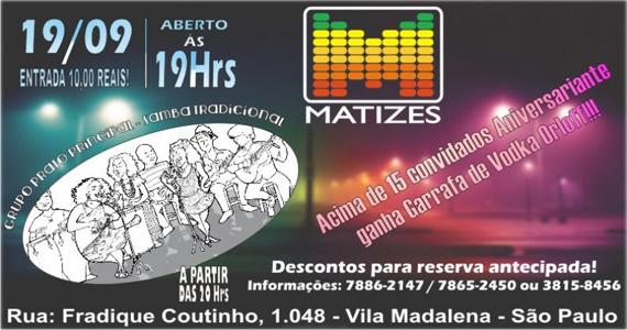 Grupo Prato Principal agita a noite com muito samba no Matizes nesta quinta-feira Eventos BaresSP 570x300 imagem