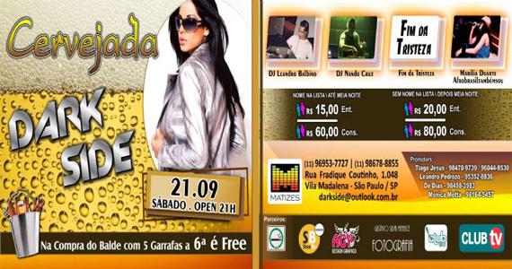 Cervejada Dark Side agita a noite de sábado com DJs no Matizes Bar Eventos BaresSP 570x300 imagem
