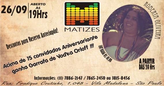Roberta Oliveira se apresenta nesta quinta-feira no Matizes Bar Eventos BaresSP 570x300 imagem