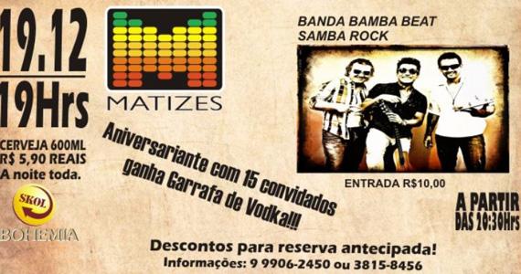 Apresentação da banda Bamba Beat no palco do Matizes Bar  Eventos BaresSP 570x300 imagem