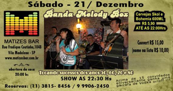 Apresentação da Banda Melody Box no palco do Matizes Bar  Eventos BaresSP 570x300 imagem