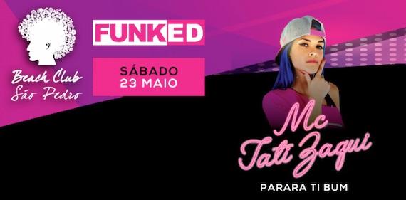 Mc Tati Zaqui comanda a noite Funked do Café Beach Club São Pedro, no Guarujá Eventos BaresSP 570x300 imagem
