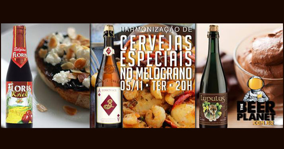 Melograno oferece na terça-feira Harmonização de Cervejas Especiais Eventos BaresSP 570x300 imagem