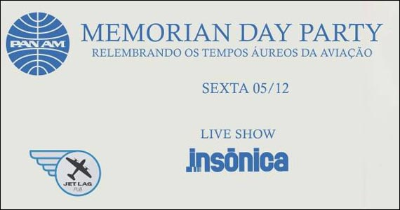 Memorian Day Party com shows de pop rock no palco do Jet Lag Pub Eventos BaresSP 570x300 imagem