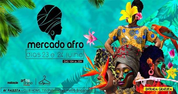 Mercado Afro acontece na Avenida Paulista com cultura, moda e gastronomia Eventos BaresSP 570x300 imagem