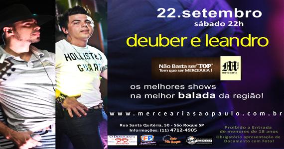 Mercearia São Paulo apresenta Deuber e Leandro no sábado Eventos BaresSP 570x300 imagem