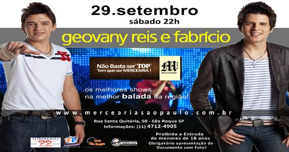 Mercearia São Paulo apresenta Geovany Reis e Fabrício Eventos BaresSP 570x300 imagem