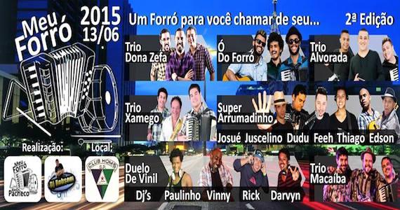 Club Homs apresenta a segunda edição da festa Meu Forró com shows de Trio Dona Zefa, Trio Alvorada e muito mais Eventos BaresSP 570x300 imagem