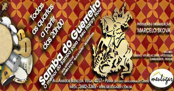Samba do Guerreiro anima Happy Hour do Meu Lugar nesta quarta-feira Eventos BaresSP 570x300 imagem