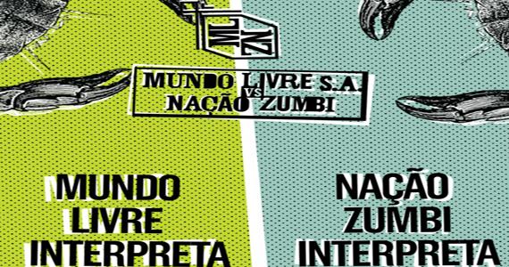 Sesc Pompeia recebe 'batalha' musical Mundo Livre S.A vs Nação Zumbi Eventos BaresSP 570x300 imagem