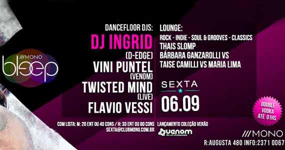 Mono Club tem festa Bleep com a DJ Ingrid nesta sexta-feira Eventos BaresSP 570x300 imagem